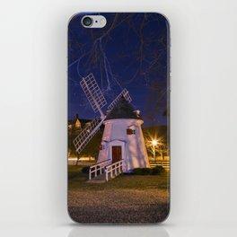 Yorktown Windmill at Night iPhone Skin