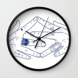 Make My Hands Famous - Part IV Wall Clock