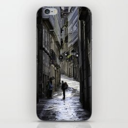 Pilgrim in Santiago de Compostela; after the walk iPhone Skin