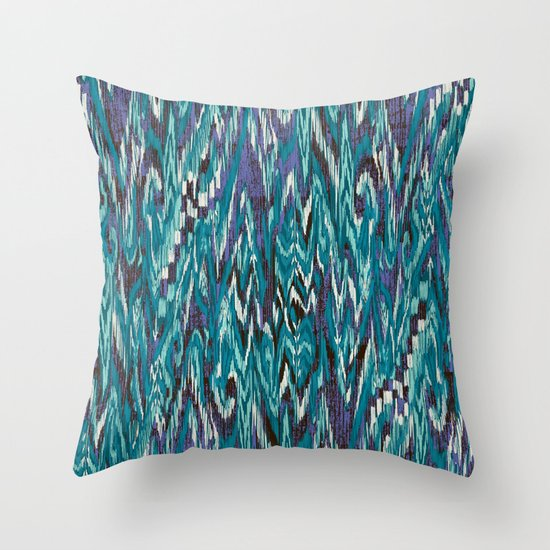 Ikat4 Throw Pillow