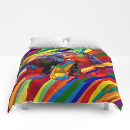 Full Color Abstract Elephant Comforters