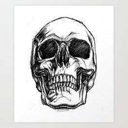 Grinning, Skull art, Custom gift design Art Print