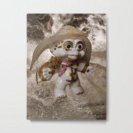 White Troll Metal Print