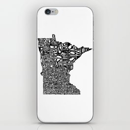 Typographic Minnesota iPhone Skin
