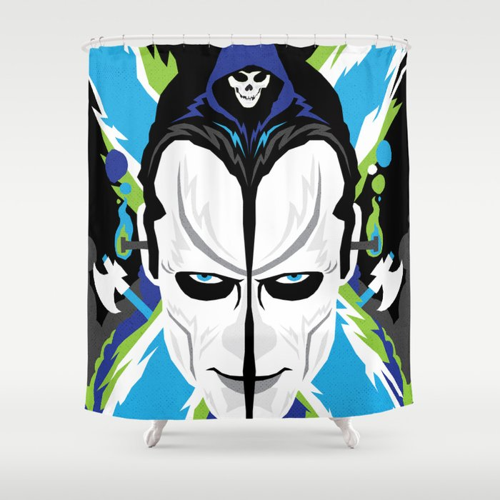 THE ROOTS OF HORROR ROCK MISFITS Shower Curtain