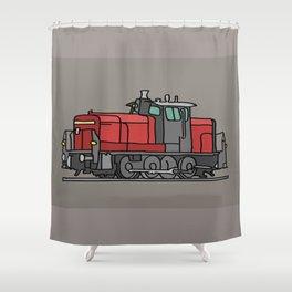 Diesel locomotive Shower Curtain