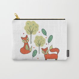 Woodland Foxes Carry-All Pouch