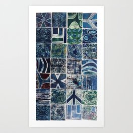 Quilt of a Sort in Blue Art Print