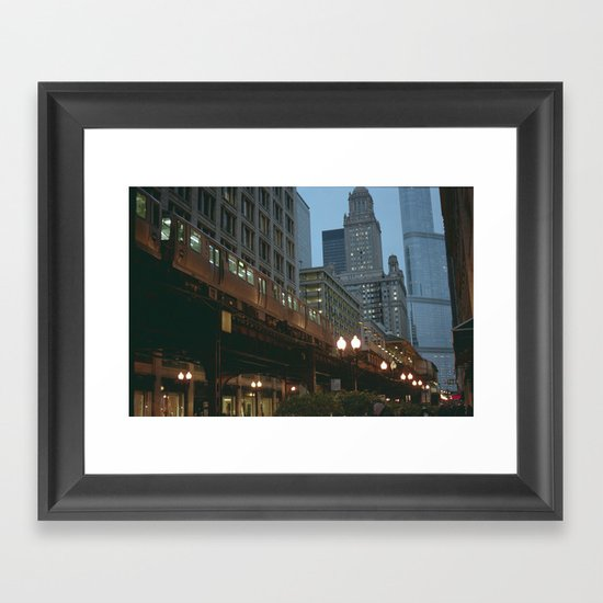 Streets of Chicago Framed Art Print