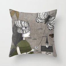 Oda (An All Hallows' Eve Tale) Throw Pillow