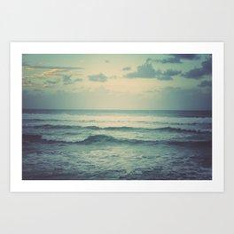 Evening Ocean Art Print