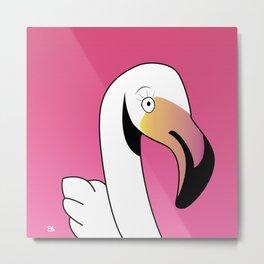 Pink Flamingo design Metal Print