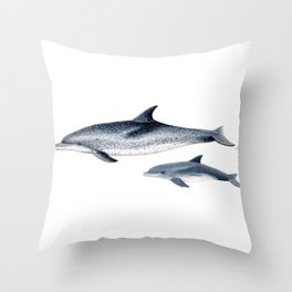Atlantic spotted dolphin Throw Pillow