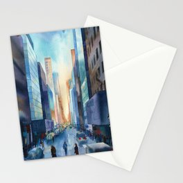 New York. Streets Stationery Cards