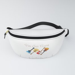 Different Genre Kinds Of Musical Instrument Music Guitar Metal Designs Collection T-shirt Design Fanny Pack