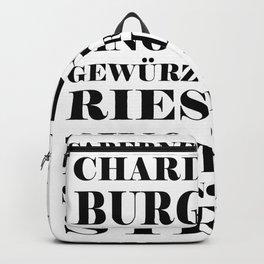 Wine Celebration - White Backpack