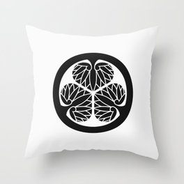 Tokugawa Clan · Black Mon Throw Pillow