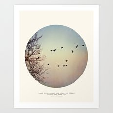 Caged Birds Art Print