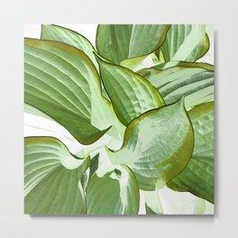 472 - Abstract Plant Design Metal Print