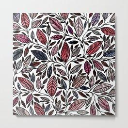 Floral Illustration - Leaf - No*48 Metal Print