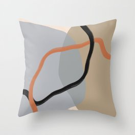 Minimal Abstract 3 Throw Pillow