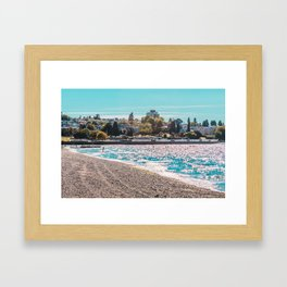 I see an island. Framed Art Print