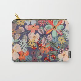 Rustic pattern with many colored flowers. Simple pretty style Carry-All Pouch