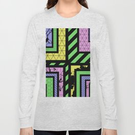 Pastel Corners (Abstract, geometric, textured designs) Long Sleeve T-shirt