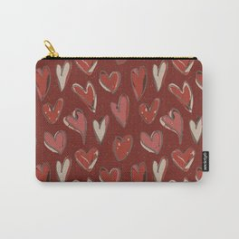 With all my HEART! (large hearts) Carry-All Pouch