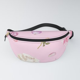 Pink Watercolor Flowers Fanny Pack