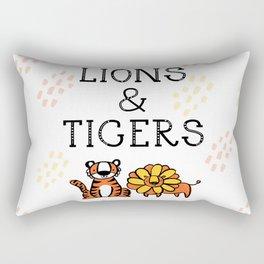 Lions & Tigers Rectangular Pillow