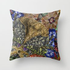 Psychedelic Botanical 4 Throw Pillow