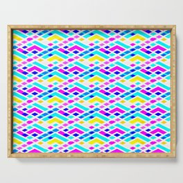 Pastel color pattern 2 Serving Tray