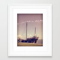 pirate ship Framed Art Prints featuring Pirate Ship by Apples and Spindles