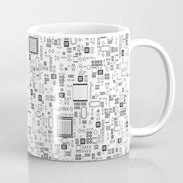 All Tech Line / Highly detailed computer circuit board pattern Coffee Mug