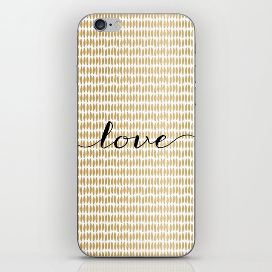 Love Gold iPhone & iPod Skin
