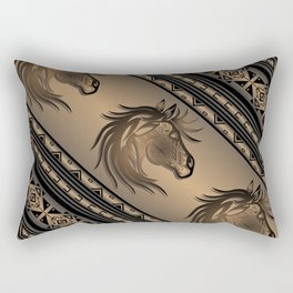 Horse Nation (Brown) Rectangular Pillow