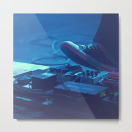 Stompboxes (Indie rock music concert, Stumping on effects pedals) Metal Print