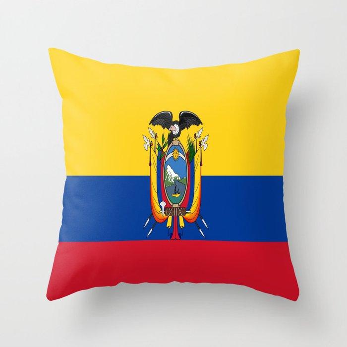 Ecuador Throw Flag Pillow Case Cover