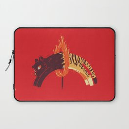 Pouncing Through Fire Laptop Sleeve
