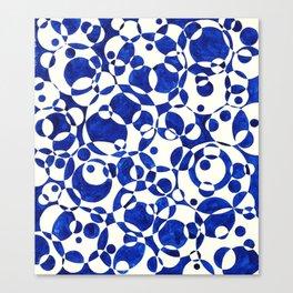 Blue Circle Composition Canvas Print