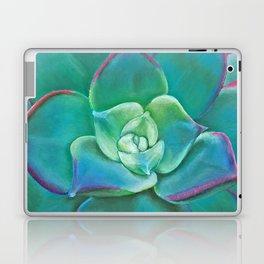 Vibrant Aqua Succulent Plant Laptop & iPad Skin