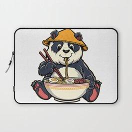 Cute Japanese Panda Bear Eating Ramen Noodles Kawaii T-Shirt Laptop Sleeve