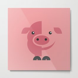 Mr. Piggy Metal Print