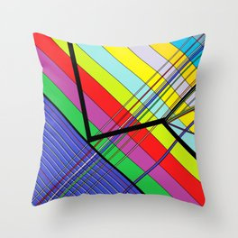 Diagonal Color Throw Pillow