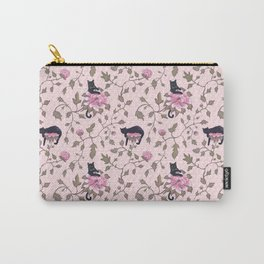 Cats on a flower matrix Carry-All Pouch