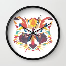 Poly Raccoon Wall Clock