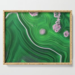 Green Marble Agate 0410 Serving Tray