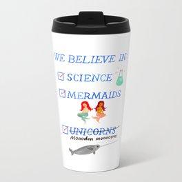 Believe in Science Metal Travel Mug