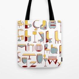 Chair alphabet Tote Bag